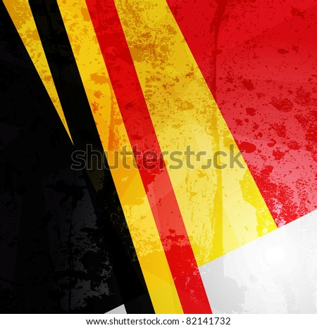 Abstract pattern for design. Retro paper background. flag of Belgium