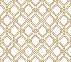 Abstract pattern in Arabian style. Seamless vector background. Gold and white texture. Graphic modern pattern.