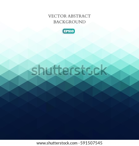 Abstract pattern of a variety of geometric shapes on a white background. Empty space for text.