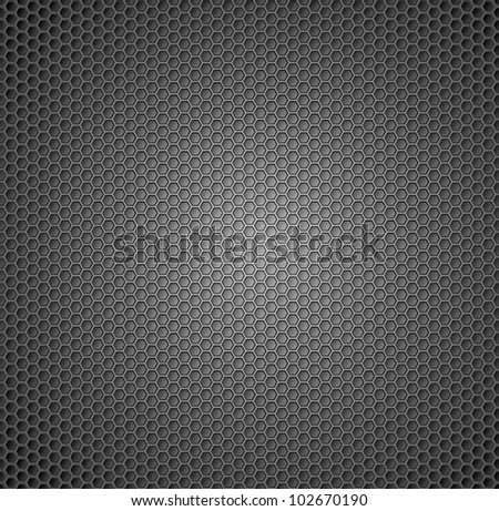 abstract pattern of metal in the form of honeycomb