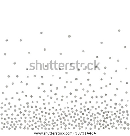 Abstract pattern of random silver dots on white background. Elegant pattern for background, textile, paper packaging and other design. Vector illustration.