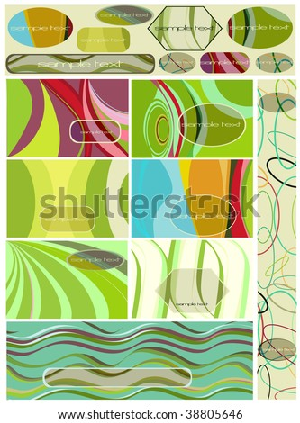 abstract pattern set