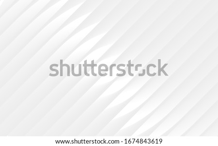 Abstract pattern. White and gray color background. Vector Design layout of shape paper cut. Motion Curved Line. Gradient stripes layers.