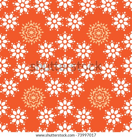 abstract pattern with flowers. illustration.