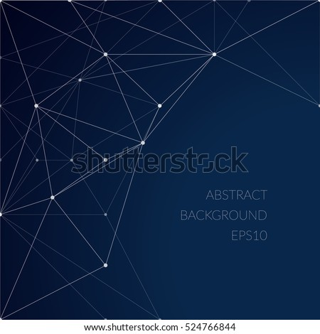 Abstract pattern with lines on a blue background. The grid of lines. The structure of the material. Constellations.