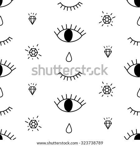 abstract pattern with open and
