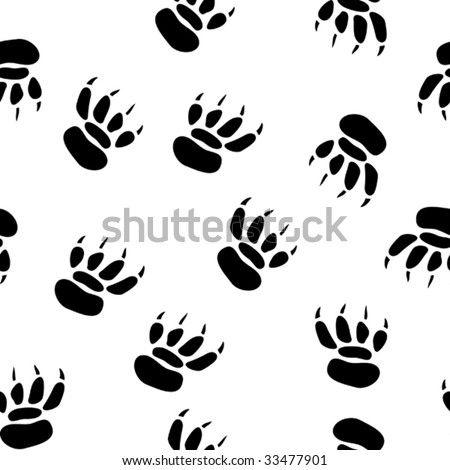abstract pawprint background