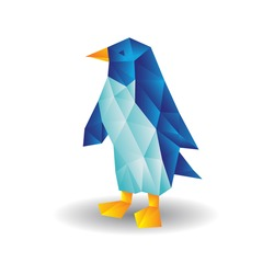 Abstract penguin of geometric shapes