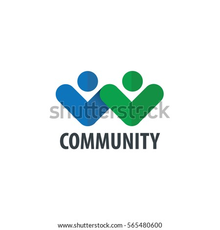 Abstract People Design Logo for Company or Brand Identity