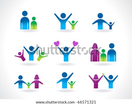 abstract people icon template vector illustration