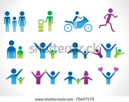 abstract people icon vector illustration