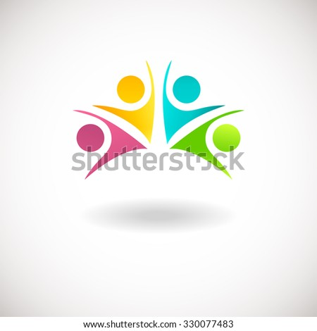 abstract people logo  sign