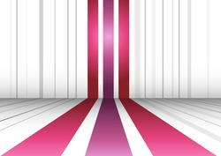 Abstract perspective background with three lines. Vector illustration