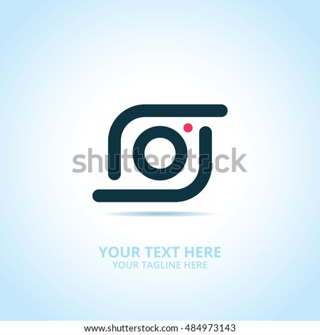 Abstract photography logo, design concept, emblem, icon, flat logotype element for template.