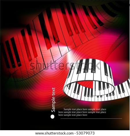 abstract piano keyboard