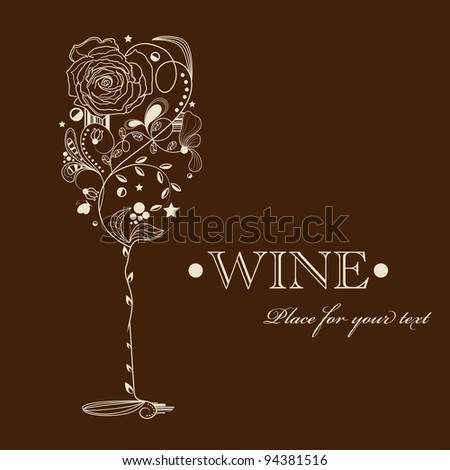 abstract picture of wine glass