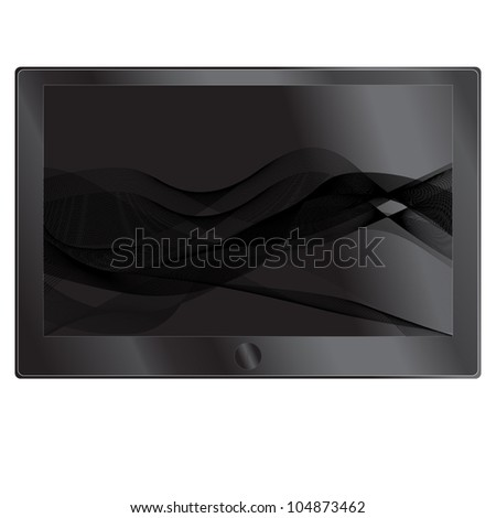Abstract picture on touchscreen web devices, a pc and a table,Vector