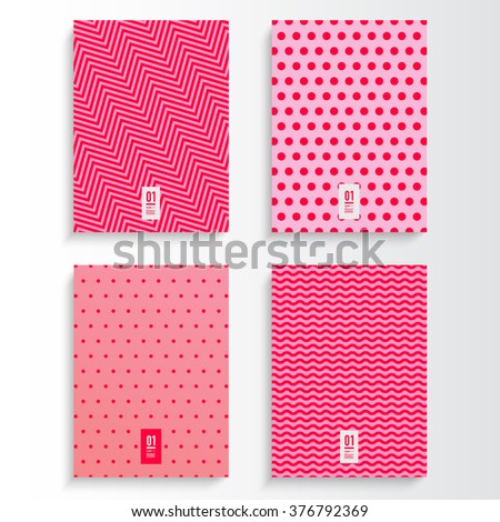 abstract pink and magenta flyer