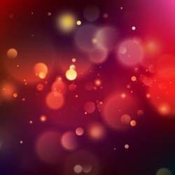 Abstract pink and orange bokeh on indigo blue background. And also includes EPS 10 vector