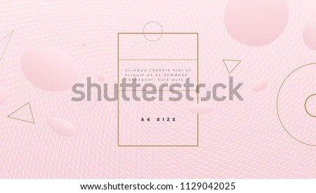 Abstract pink background with beautiful liquid fluid for cosmetics cream posters, placards and brochures. Eps10 vector illustration.