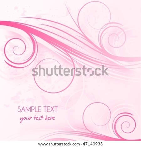 Abstract pink background with place for text,  raster version also available in my portfolio