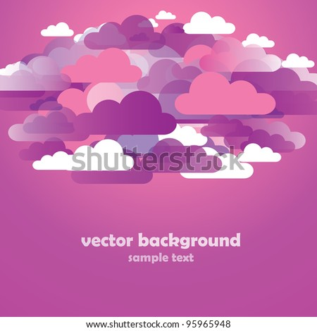 Abstract Pink Cloud Background Vector
