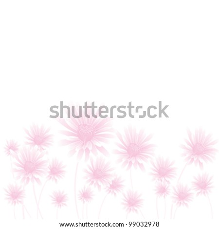 abstract pink flowers on light background