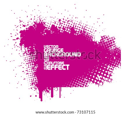 abstract pink grunge background with splats and halftone effect