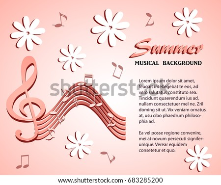 abstract pink musical