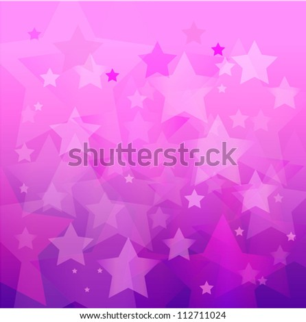 abstract pink star bokeh background