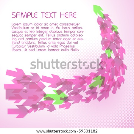 Abstract pink  technical background with arrows
