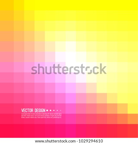 Abstract pixel background with colorful squares. Transition and gradation of color. Vector blend gradient for illustrations, covers and flyer.