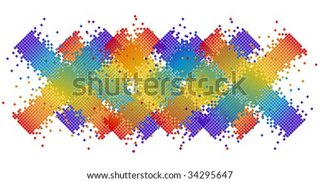 abstract pixel in various colors vector illustrated