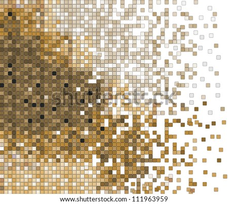 abstract pixel mosaic vector background illustration