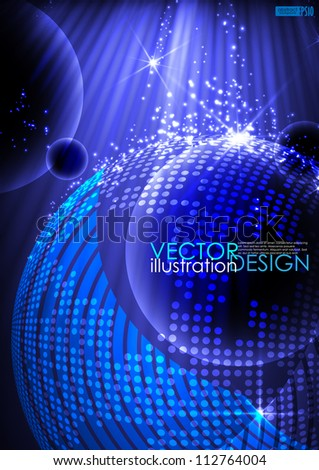Abstract planet background. Vector illustration. Eps 10.