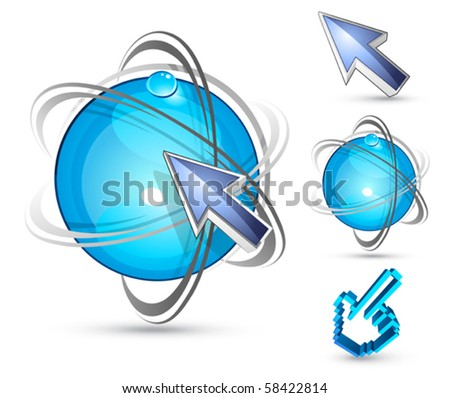 Abstract planet. Design elements