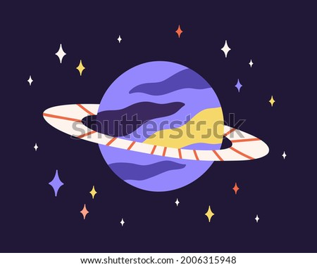 abstract planet sphere with