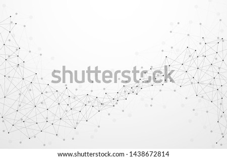 Abstract plexus technology futuristic network background with contrast level. Vector illustration