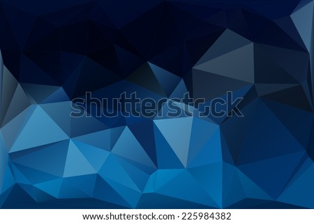 abstract polygon blue