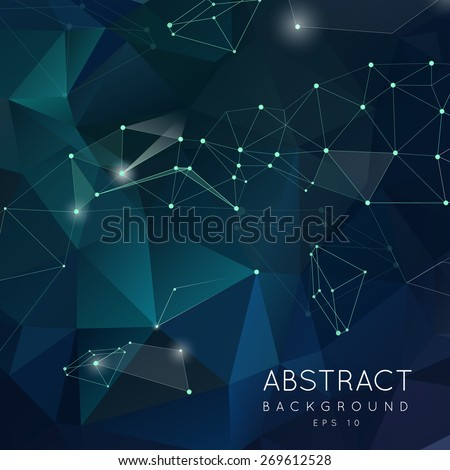 abstract polygonal backgroun