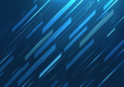 Abstract polygonal background, Dark blue light digital technology vector, Creative graphic effect fast sport cover