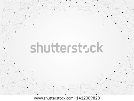 Abstract polygonal background with connected dots and lines.concept of digital technology,Internet connection.Vector illustration eps 10.