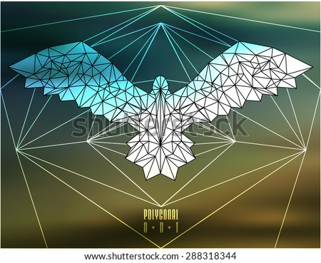abstract polygonal bird