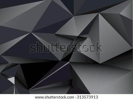 abstract polygonal black