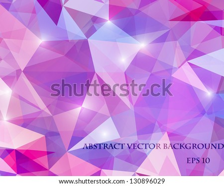 abstract polygonal bright background