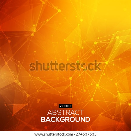 abstract polygonal orange red