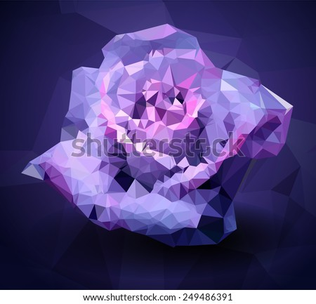 abstract polygonal rose flower