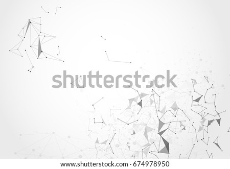 Abstract Polygonal Space Background with Connecting Dots and Lines