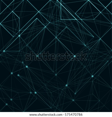 abstract polygonal space