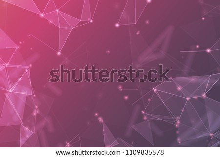 Abstract polygonal space. Background with connecting dots and lines. The concept illustration for your design